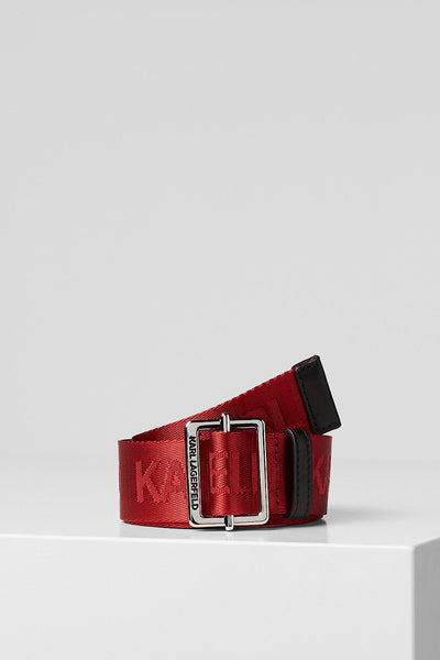 KARL LAGERFELD ΚΟΚΚΙΝΗ ΖΩΝΗ K/KARL LOGO WEBBING SS20 201W3196 red belt
