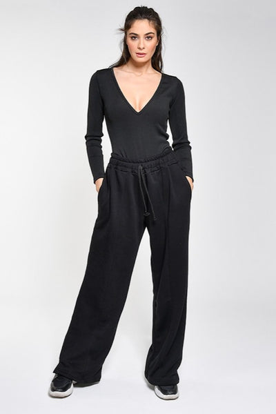WANDERLUST OVERSIZED PANTS μαυρο black