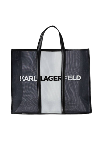 KARL LAGERFELD ESSENTIAL LARGE TOTE BAG ΤΣΑΝΤΑ 211W3909 ΜΑΥΡΟ  Edit alt text