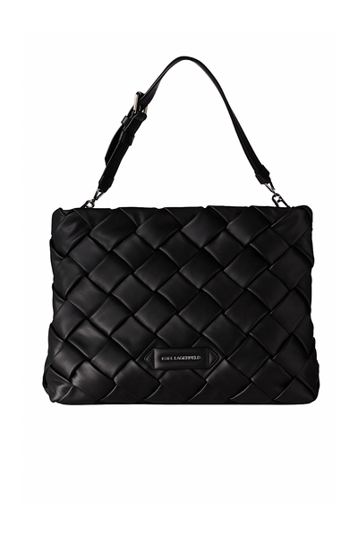 KARL LAGERFELD K/KUSHION BRAID TOTE ΤΣΑΝΤΑ 211W3015 ΜΑΥΡΟ