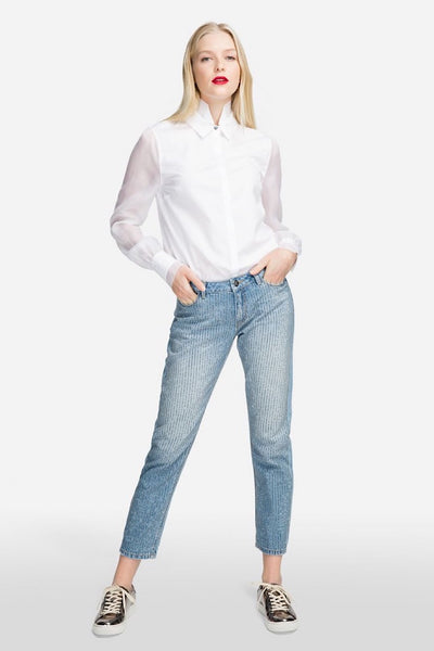 KARL LAGERFELD GIRLFRIEND JEANS ΜΕ ΣΤΡΑΣ