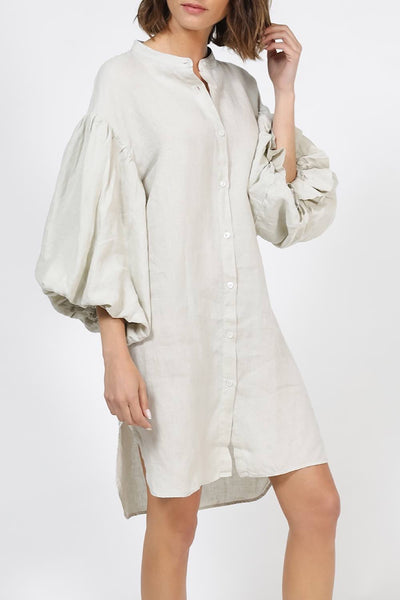 MR MOOD Mrs Balon Linen Shirtdress – Pelican