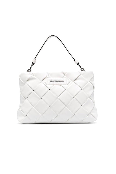 KARL LAGERFELD K/Kushion Braid Clutch Γαλάζιο 211W3016