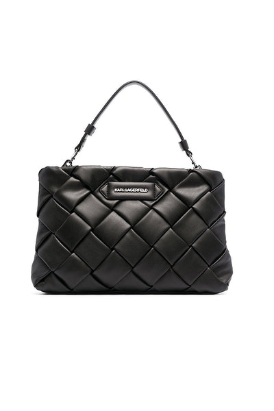 KARL LAGERFELD K/Kushion Braid Clutch Μαύρο 211W3016
