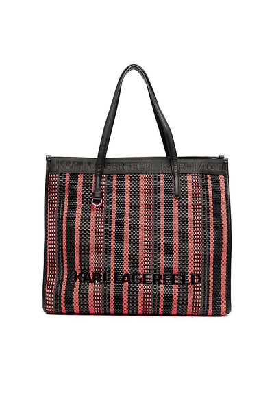 KARL LAGERFELD K/Skuare Braided tote bag 211W3021
