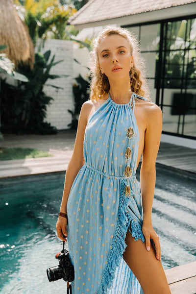 SUNDRESS Adela Dubai Φόρεμα Serenity Blue