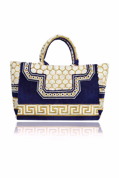 IOSIFINA STARS SHOPPER ΤΣΑΝΤΑ DIMITRA NAVY BLUE