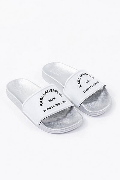 KARL LAGERFELD RUE ST-GUILLAUME ADDRESS ΛΕΥΚΑ SLIDES SS20