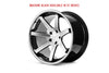 Machine Black / Chrome Lip  C.B 66.56 / 5x112 / ET30