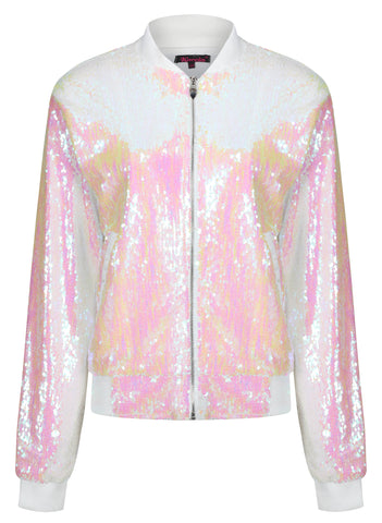 Sequin Unicorn Bomber