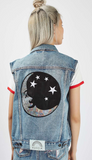 Sequin Astro Denim Vest