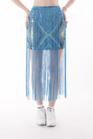 Cape Collide Tassle Mini Skirt