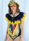 FLASHDANCE FEATHER CAPE