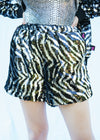 STRIPE UP YOUR LIFE SEQUIN SHORTS