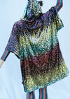 TASTE THE RAINBOW  HOODED KIMONO