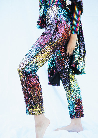 TASTE THE RAINBOW SEQUIN JOGGERS