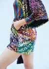 TASTE THE RAINBOW SEQUIN BOXING SHORTS