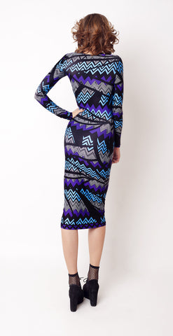 Indigo Rave Cut Away Midi Dess