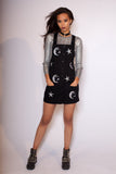 Sequin Astro Denim Dress