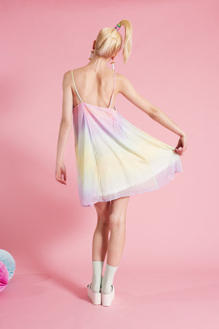 Shearly Prismatic Slip Dress