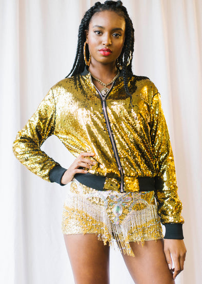 Goldfinger Sequin Bomber