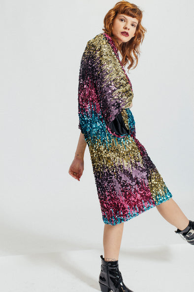 The Colour Blinded Sequin Kimono