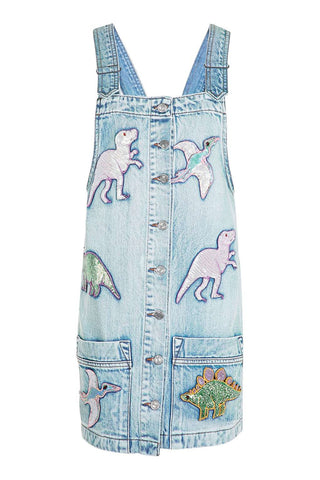 Sequin Dinosaur Denim Dress