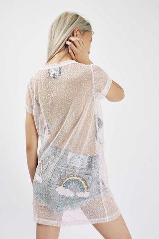 Sequin Mesh Unicorn Dress