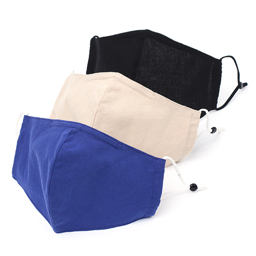 A pack of 3 Black, Blue, Beige