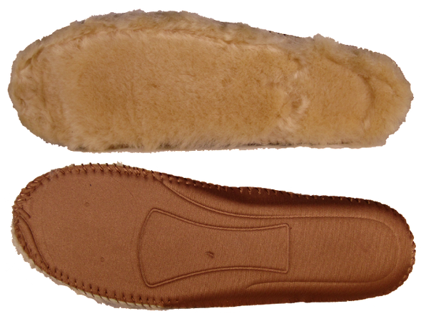 Insole of our classic sheepskin boots in chestnut