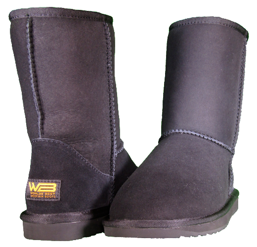 Both classic short sheepskin boots in black