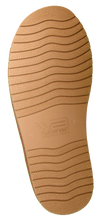 Outsole of classic short sheepskin boots in chestnut
