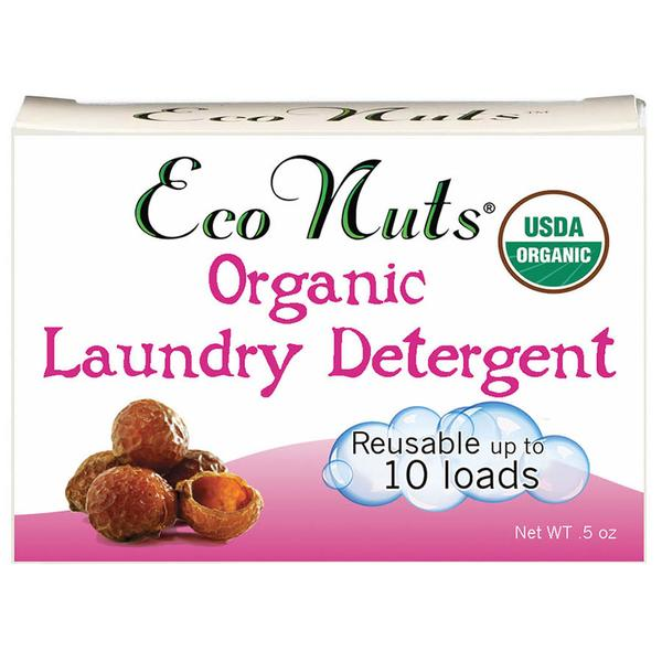 Eco Nuts Organic Laundry Soap Nuts are zero waste and are dried berries from a Himalayan tree. They gently cleanse laundry & are safe for cloth diapers.