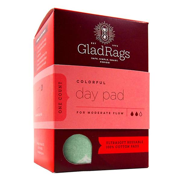GladRags Colorful Day Pads have a unique three part design which allows you to customize the absorbency of the pad according to your flow. Made in the USA.