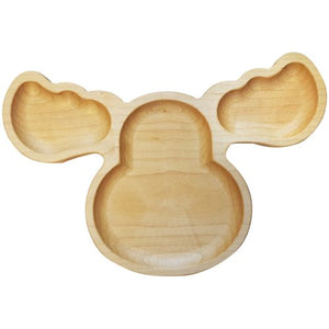 Children's Wooden Moose Plate