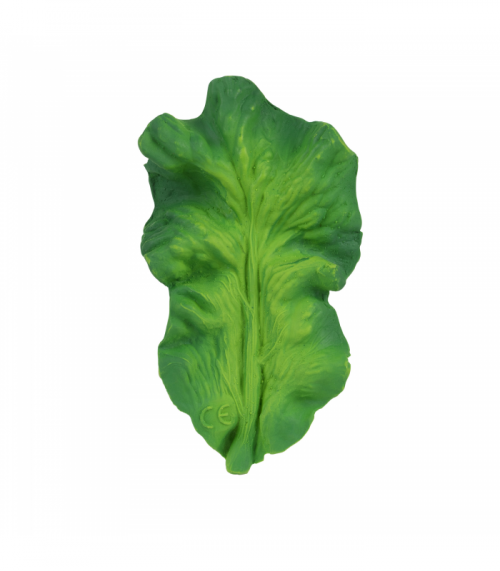 The Oli & Carol Kendall the Kale Natural Rubber Toy is biodegradable, eco-friendly, BPA, PVC, Phthalate, and Nitrosamines free. No valves mean no mold. Find Oli and Carol natural rubber toys in the USA at The Eco Baby Co™.