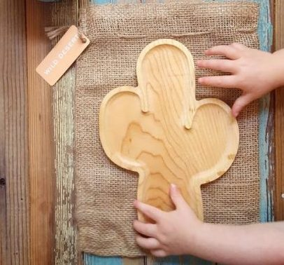 The TimberChild™ Cactus Children's Wooden Plate is a safer & healthier, non-toxic alternative to the regular plastic plates made for kids today. Sold in the USA at The Eco Baby Co™.