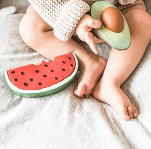Oli & Carol Wally the Watermelon Natural Rubber Toy