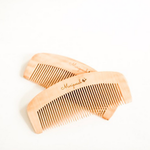Peach Wood Comb Set