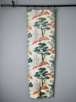 Vintage 40s High Desert Print Cotton Barkcloth