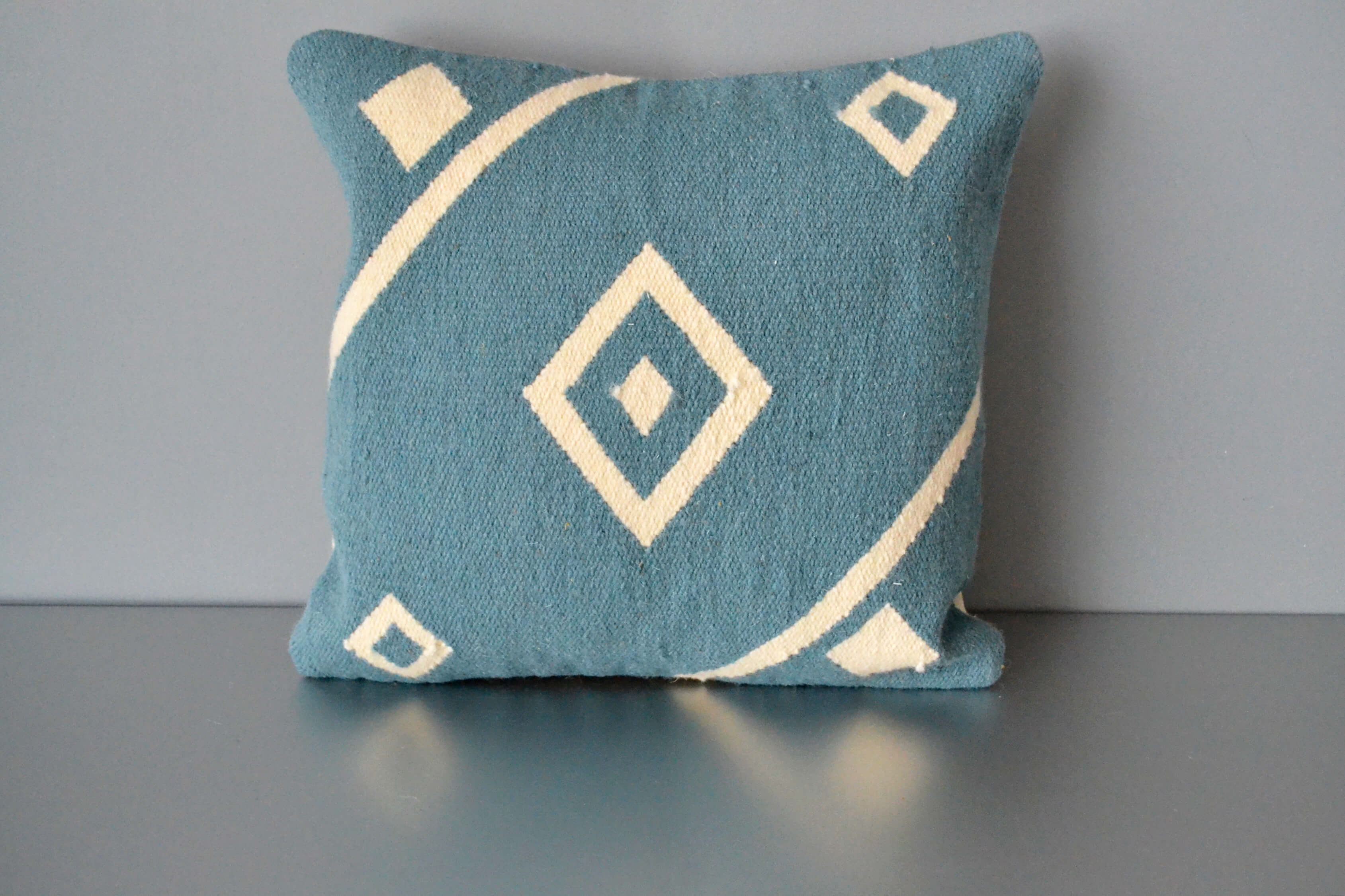 Blue Nile Wool Throw Pillow by Yuba Mercantile