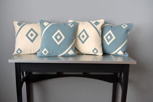 Blue Nile and White Nile Wool Throw Pillows by Yuba Mercantile