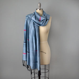 Electric Blue Woven Scarf