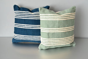 Blue Meadow and Green Meadow Throw Pillows by Yuba Mercantile
