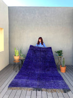 Purple Blue Vintage M'Rirt Moroccan Rug by Yuba Mercantile