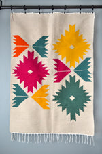 Colorful Bustan Floral wool Kilim Rug by Yuba Mercantile