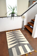 Cascade Cotton Kilim Rug 3'X5' by Yuba Mercantile