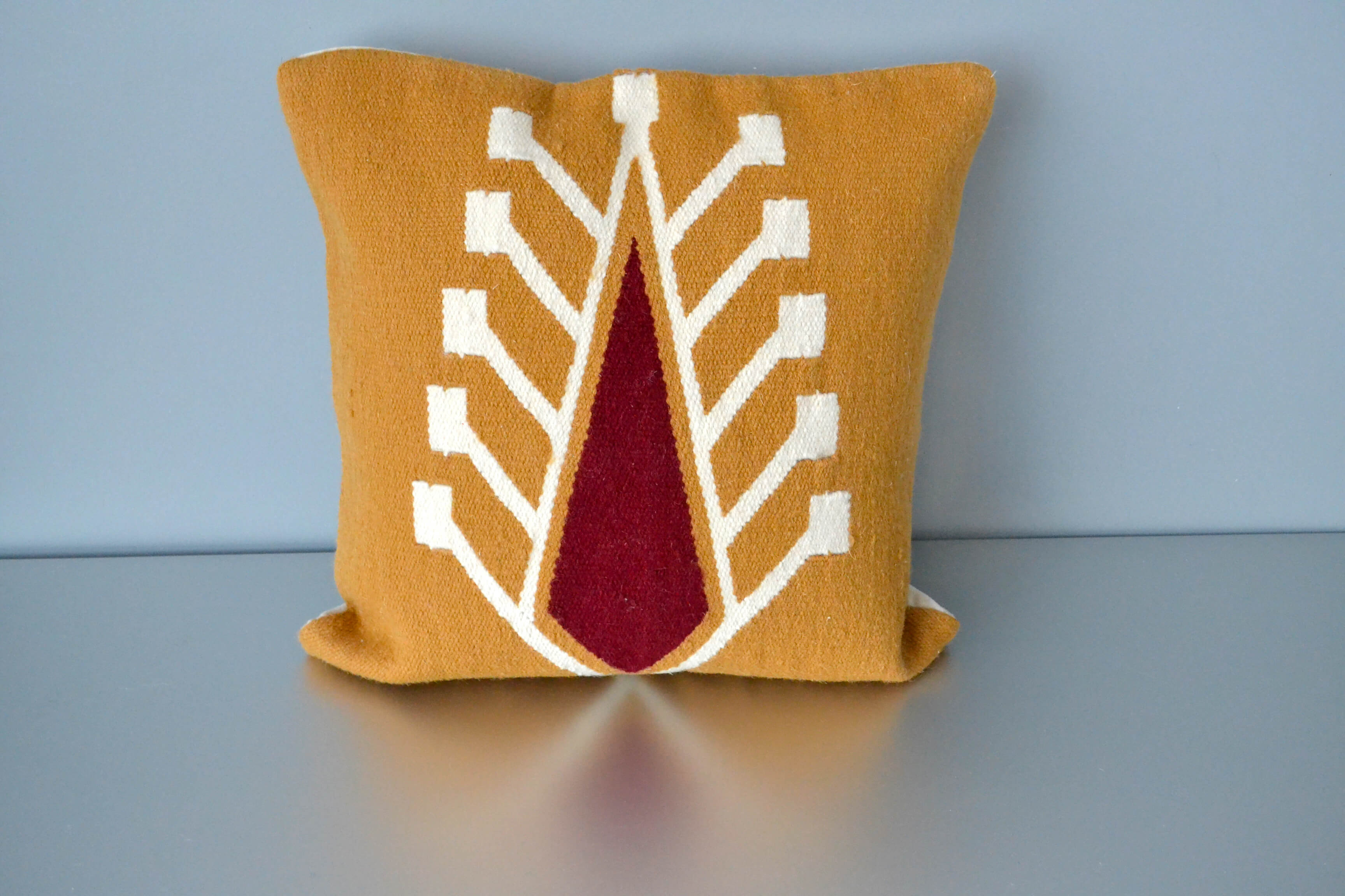 Burnt Orange Wool Cypress Pillow Cover by Yuba Mercantile