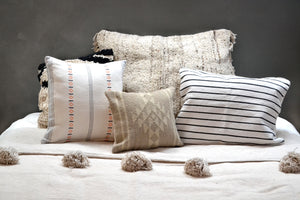 Neutral Woven Textured Pillows by Yuba Mercantile