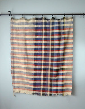 Vintage Plaid Moroccan Cotton Blanket